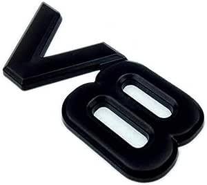 1 Stücke 3d Auto Logo Emblem V8 Metall Aufkleber Abzeichen Karosserie Aufkleber Für Auto Auto