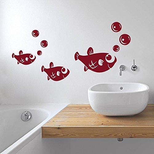 Zigzacs Gloup! Gloup! Fish Design Home Art Décor Decal Mural Wall Sticker Kids Room