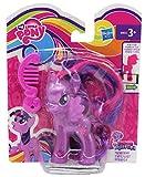 MLP My Little Pony Esplora Equestria Figure per Lo Styling, con Pettine e Fascia Glitterata, codice sul Piede per l'APP, Personaggio per Ragazze, Bambini (Fiore di Campo, Rosa) (Twilight Sparkle )