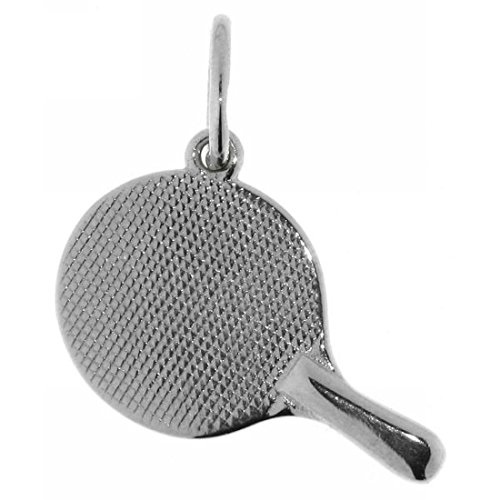 Derby Anhänger Tischtennisschläger massiv echt Silber 23565