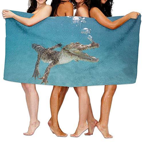 XIEXING Badetuch - Beach Pool Custom Bath Towels Cool Funny Crocodile Bubbles Super Absorbent Microfiber (Super Bubble Bath)