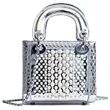 AalarDom Damen Mode Juwelen PU Tragetaschen Umhängetaschen,TSEBH182250,Silber