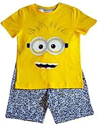 33ecc5da2d15f Despicable Me Minion Kids - T-Shirt et Short Jaune et Gris Pour Garçon Âgés