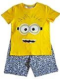 Camiseta y pantalón amarillo y gris de Despicable Me Minion Kids Boy Set para...