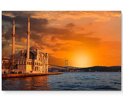 andbilder | Bilder Leinwand 120x80cm Ortaköy-Moschee Bei Dämmerung - Istanbul ()