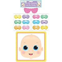 Henbrandt Baby Shower Party Game Pin The Dummy Pacifier On The Baby