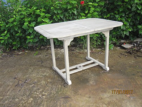 Tisch ausziehbar cm 120–160x 80x 74h Akazie lackiert ausziehbar Gartenmöbel