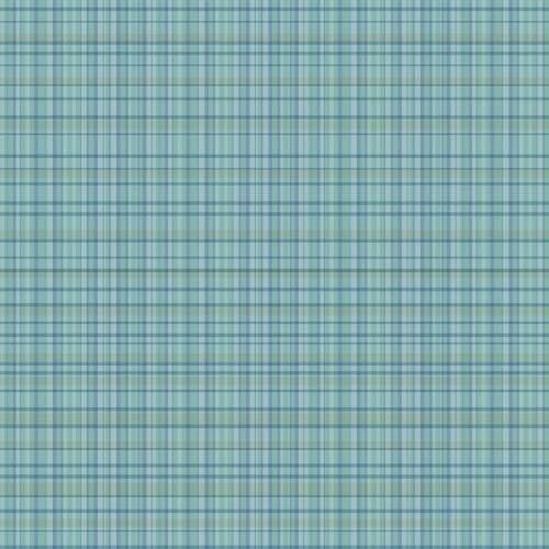 WallCandy Arts Removable Wallpaper, Plaid Blue