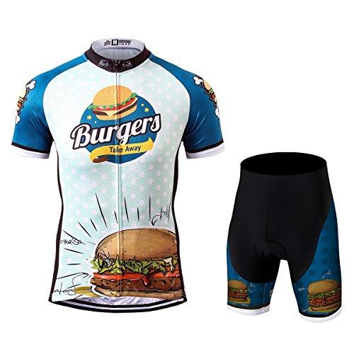Thriller Rider Sports® Herren Burgers Sport & Freizeit MTB Fahrradbekleidung Radtrikot und Kurze Hose Anzüge Small