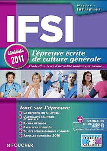 IFSI l'épreuve écrite de culture générale concours 2011