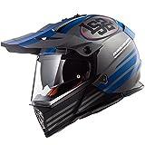 LS2 Pioneer MX436 Quarterback Helm Titan M (57/58)