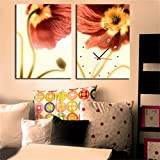 paintings Clocks NAUY-Modern Style Lienzo Pintura Reloj de Pared en Lona 2pcs