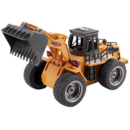 RC Auto kaufen Baufahrzeug Bild 2: deAO RC Radlader mit LED Beleuchtung und Sounds Radio Kontrollierter Baustellen LKW inklusive wieder ladbare Batterien mit lade Station*