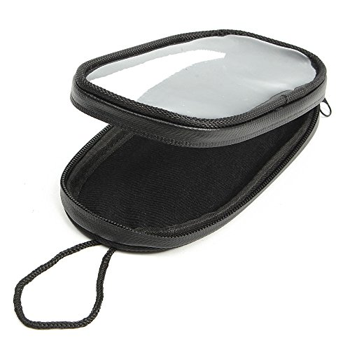 KKmoon Motorrad-Telefon-Navigationssäcke Wasserdichte Motorrad-Handy-Taschen Touchscreen Tankrucksack Schwarz L