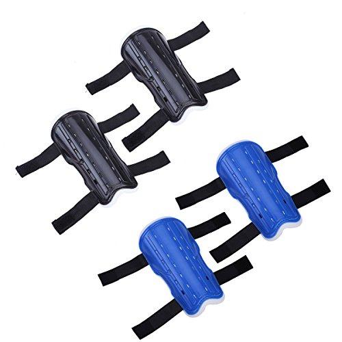 Preisvergleich Produktbild LIOOBO 2 Paar Kinderfußball-Schienbeinschoner Kinderfußballausrüstung mit Knöchelärmeln für Jungen und Mädchen