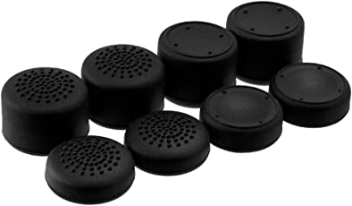 Ace Shot Thumb Grips (8pc) For Xbox One By Foamy Lizard [Black Friday Cyber Monday Sale] Sweat Free 100% Silicone Precision Platform Raised Anti Slip Rubber Analog Stick Grips For Xbox One Controller (8 Grips Per Order) Black