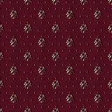 Saum & Viebahn GmbH & Co. KG Möbelstoff Venezia Muster Abstrakt Farbe rot als Robuster Bezugsstoff, Polsterstoff Gemustert zum Nähen und Beziehen, Fleckschutz, Polyester