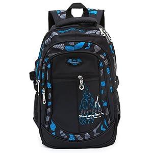 51GEFiVHJYL. SS300  - Mochila de la escuela del estudiante para los muchachos para la escuela del estudiante del niño del niño (Blue)