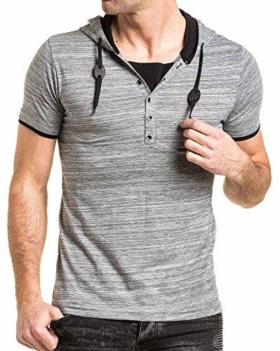 BLZ jeans - Shirt mit grau gestreifte Kapuzenmann Grau