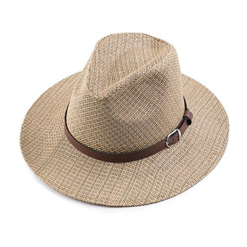 Chapeaux de paille pour hommes/Chapeau de contre soleil/Grande corniche chapeau/Chapeau de sport en plein air A