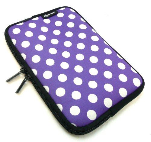 Emartbuy® Tupfen Lila / Weiß Wasserdicht Neopren Weich Zip Case Cover Tasche Hülle Sleeve Geeignet Für I.onik TP - 1200QC 7.85 Inch Tablet (8 -Zoll-Tablet )