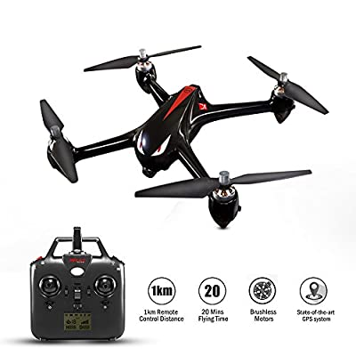 Koeoep Bugs2W RC Brushless Drone with GPS 1080P Camera Live Video 2.4GHz 4 Chanel Super-long Control Distance Quadcopter from MJX