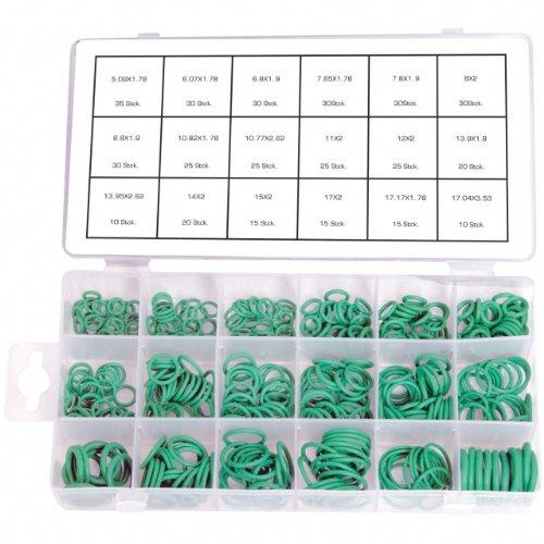 420 x HNBR O-Ring Sortiment Dichtring Dichtung Temperaturständig Klimaleitungen (im Aufbewahrungsbox / Sortimentsbox)