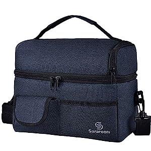 Sararoom 6L Thermotasche Kühltasche, Kühltasche klein Kühlbox faltbar Lunchtasche Mittagessen Tasche Thermotasche Isoliertasche Picknicktasche für Büro Arbeit Outdoor Reisen