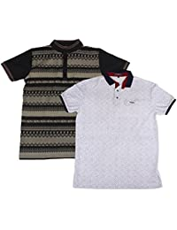 Dress Code Clothing Men's Matty T-Shirt (Black And White, Set Of 2)