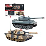 Benross Group Toys Remote Control Infrared Battle Tanks (Pack of 2)