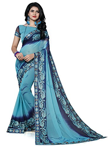Fab Valley Chiffon Saree With Blouse Piece(FB-1067-d1__Free Size)