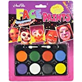 Asian Hobby Crafts Non Toxic Face Paint Safe, Water Washable And Easy To Apply For Theme Parties, Sporting Events, Halloween Etc (8 Colors, Set Of 3)