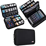 Universal Double Layer Travel Gear Organiser / Custodia da viaggio universale per dispositivi elettronici e accessori (M, Black)
