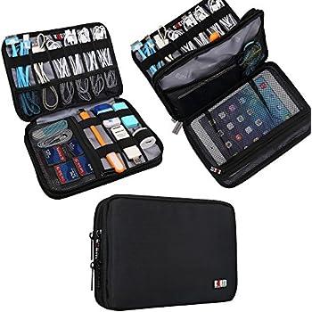 0aabab1bfa Universal Double Layer Travel Gear Organiser / Custodia da viaggio  universale per dispositivi elettronici e accessori (M, Black)