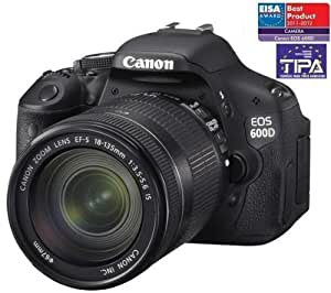 CANON 600D + objectif + EF-S 18-135 mm IS + Carte mémoire SDHC 16 Go + Sac à dos Expert Shot Digital - noir / orange .