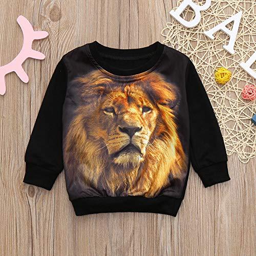 1fcd5c1115787 LANSKIRT _Vetement D'enfant Vetement bébé, Enfants Garçons Filles Manches  Longues Lion Imprimer Print