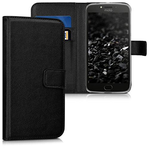 kwmobile Motorola Moto E4 Plus Hülle - Kunstleder Wallet Case für Motorola Moto E4 Plus mit Kartenfächern & Stand