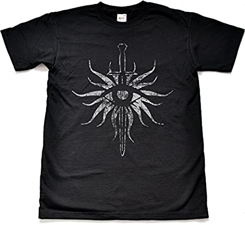 Distressed Inquisition Black T Shirt Extra Extra Large