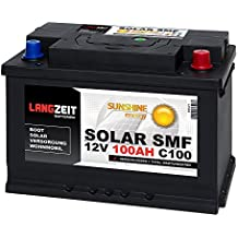 Solarbatterie 100Ah 12V Versorgungsbatterie Wohnmobil Batterie Boot Solar SMF Akku total wartungsfrei