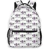 ABRAN Backpack Unisex Rucksack Hoffnung für Mukoviszidose Bookbag Leichte Laptoptasche für Schulreisen Outdoor Camping