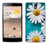 OnePlus One Hülle Case, Fubaoda [Weiße Chrysanthemen] Ultra-Clear OnePlus One ?1+1? Case Silikon Soft TPU Premium Handyhülle Case Backcover Bumper Slim case für OnePlus One ?1+1?