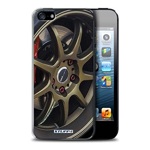 Stuff4 Hülle / Case für Apple iPhone 7 Plus / Silber/Rot Muster / Leichtmetallfelgen Kollektion Gold/Rot