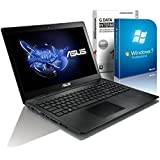 ASUS 55xMA (15,6 Zoll) (Intel Pentium N3540 Quad Core 4x2.16 bis zu 2.58 GHz, 8GB RAM, 750GB S-ATA HDD, Intel HD Graphic, HDMI, Webcam, USB 3.0, WLAN, DVD-Brenner, Windows 7 Professional 64 Bit) #4830