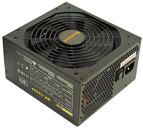 Rhombutech 1000 Watt ATX Netzteil - Gaming - Saving Power - Kabelmanagement - Aktiv PFC - 140mm kugelgelagerter Lüfter