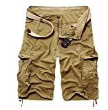 Highdas Cargo Shorts Hombres Pantalones Cortos Bermudas Leisure, de Estilo Informal,...