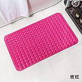 KYCD Masse Mat Rutschfeste Pad Badewanne Badezimmer Badezimmer mit Dusche PVC mit Saugnapf Massage Rutschfeste Polster, 65 cm x 65 cm, B