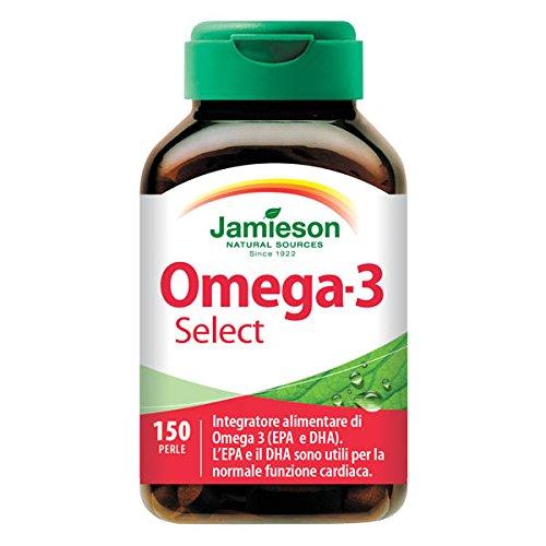 Omega 3 Select - 150 perle - Jamieson integratore di omega 3, olio di pesce