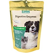 NaturVet DIGESTIVE ENZYMES Powder Probiotics Supplement Dog Cat 295 ml (60 Days)