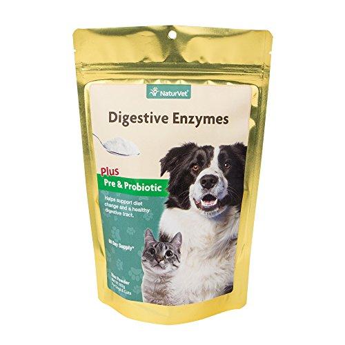 Artikelbild: Naturvet Verdauungsenzymen Pulver Probiotika Zu Ergänzen, Hund, Katze 295 Ml (60 Tage)