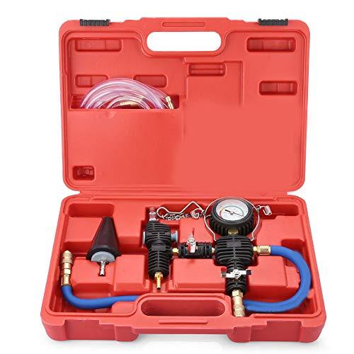 LWQ Auto-Kühler-Druck-Prüfvorrichtung, Auto Coolant Kit Vakuum-Kühlsystem, Werkzeug Universell für Kfz-Kühlsysteme Dichtigkeitsprüfung